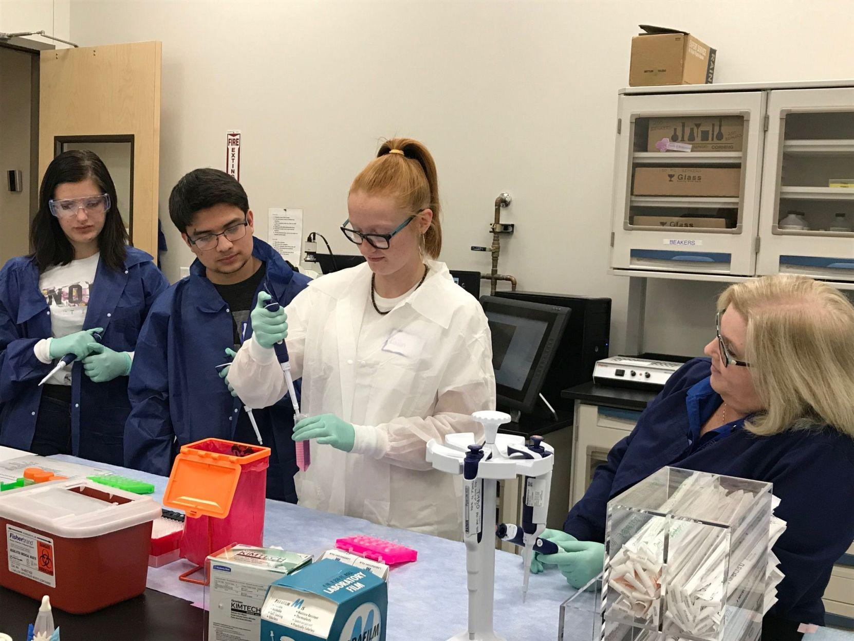 Temple High students tour bioscience facility